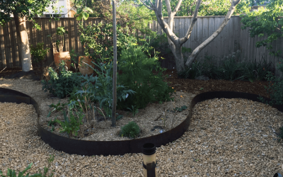 Curvaceouscaping my garden with COR-TEN edging